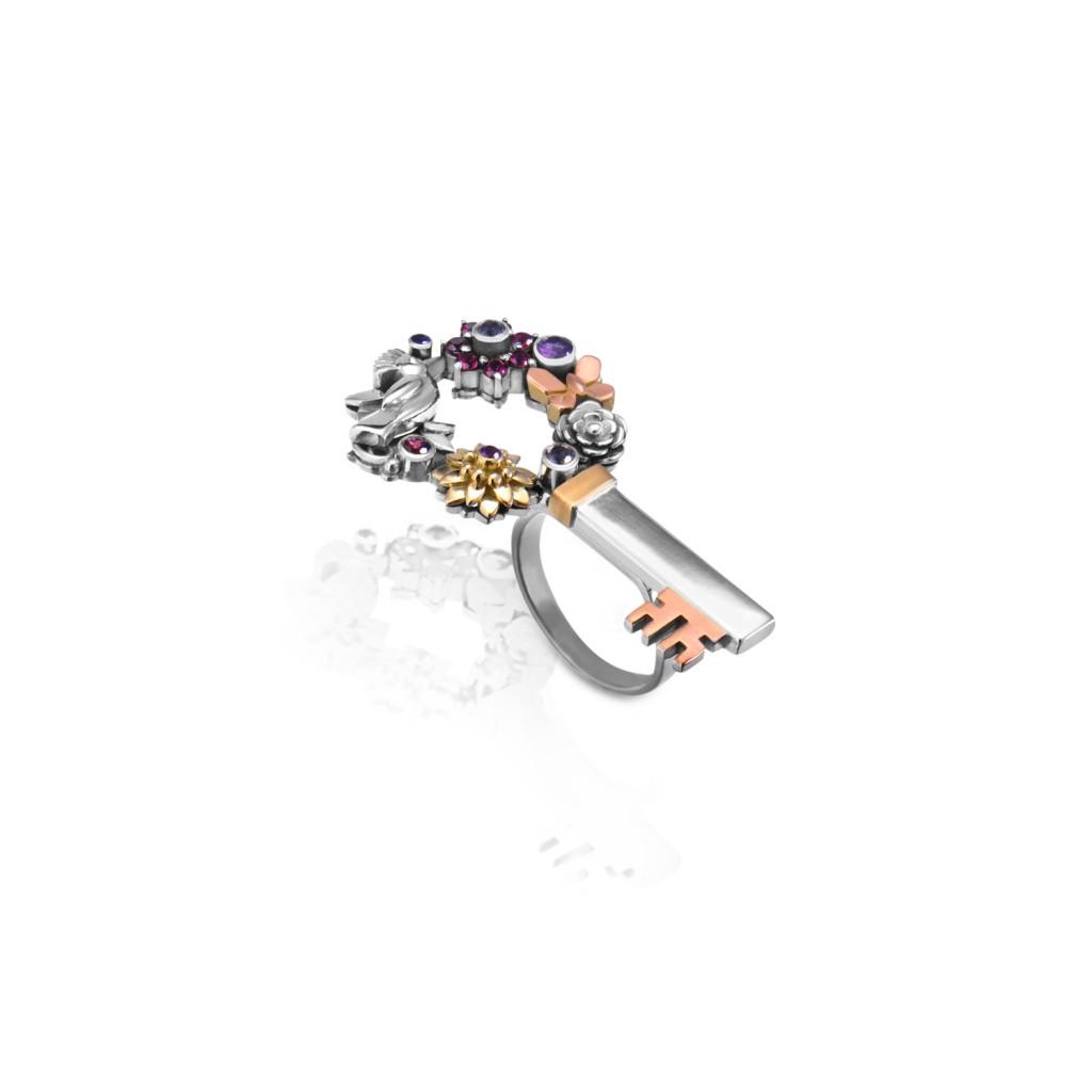 Nature Key Ring by Azza Fahmy