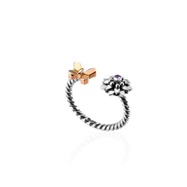 Nature Coiled Ring by Azza Fahmy