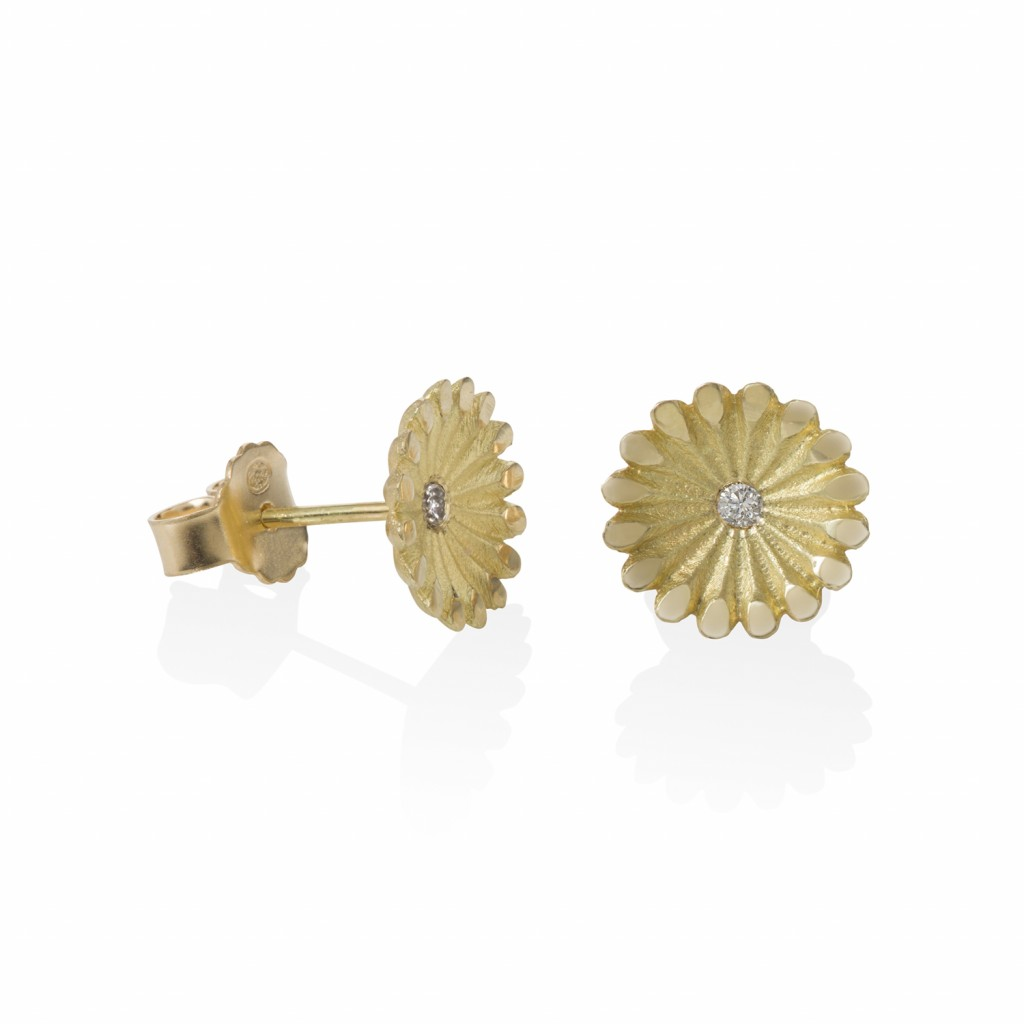 Lotus Medium Radial Diamond Studs