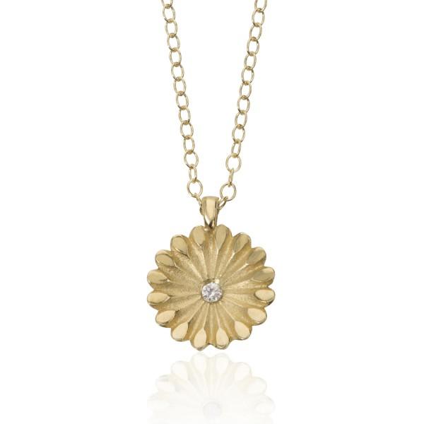 Lotus Radial Diamond Pendant