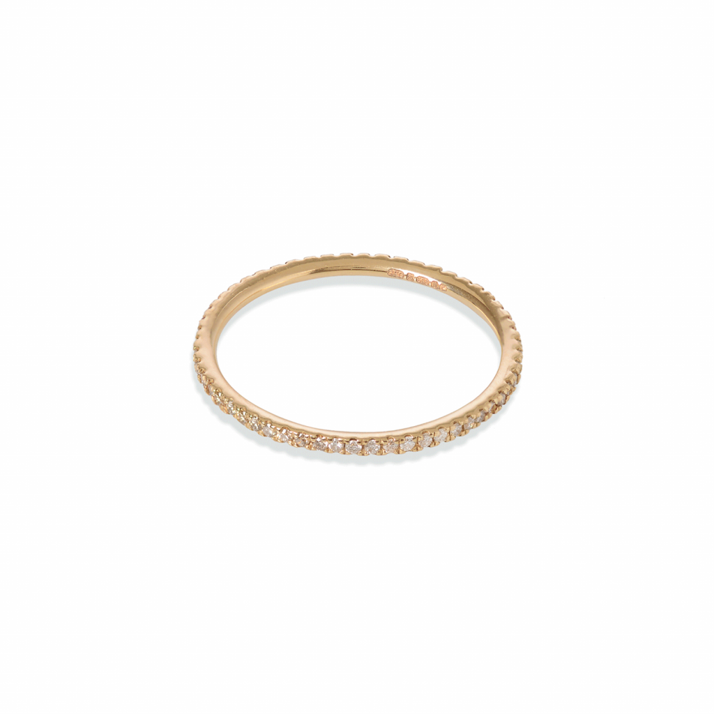 Eternity Ring with Champagne and White Diamonds by GFG Jewellery