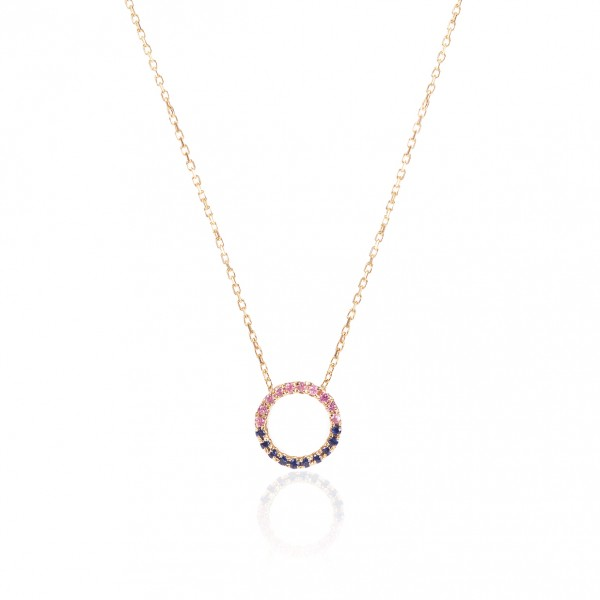 Eternity Necklace with Pink and Blue Sapphires by GFG Jewellery