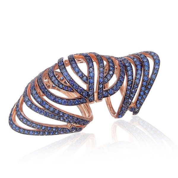 Infinitas Long Ring with Sapphires