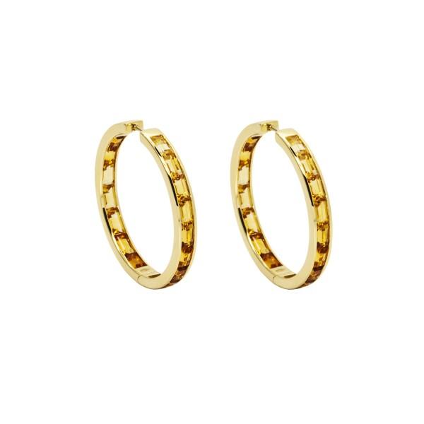 Golden Hoop Earrings by Daou Jewellery