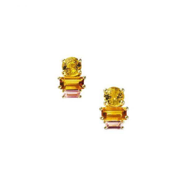 Golden Light Earrings by Daou Jewellery