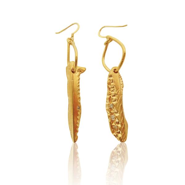 Drop Dagger Earrings by Imogen Belfield