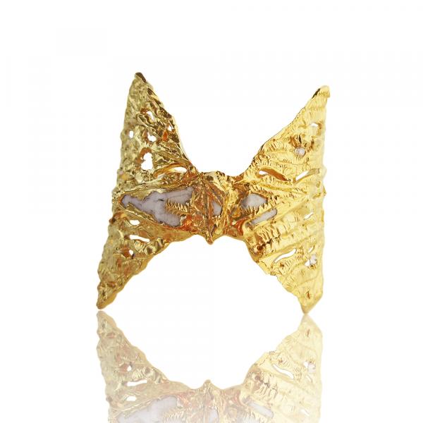 Palomino Diamond Cuff with Porcelain by Imogen Belfield
