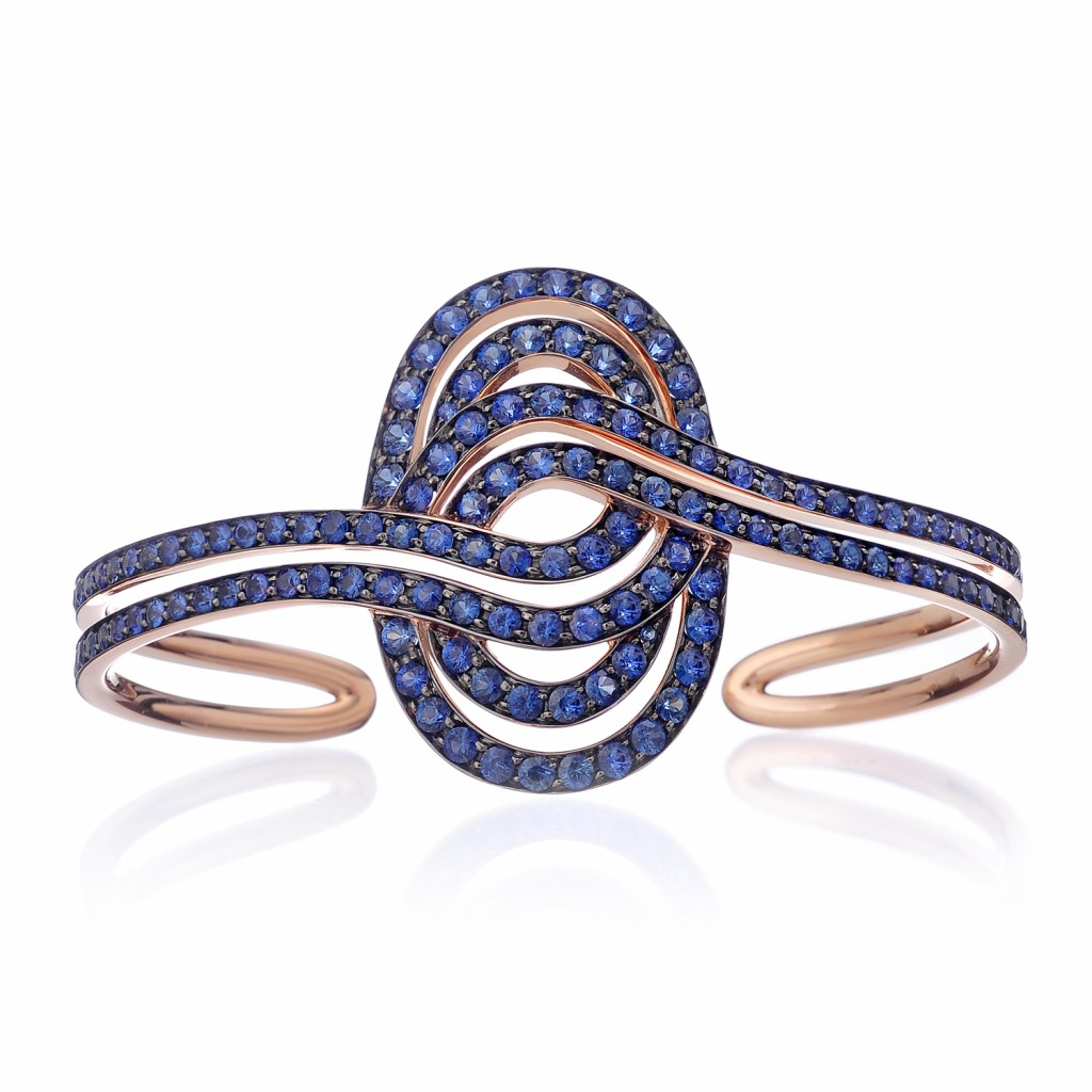 Infinitas Cuff with Sapphires