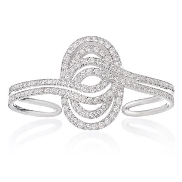 Infinitas Cuff with Diamonds