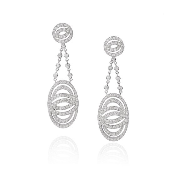 Infinitas Earrings with Diamonds