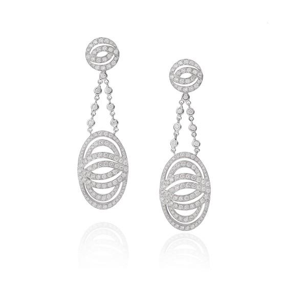 Infinitas Earrings with Diamonds