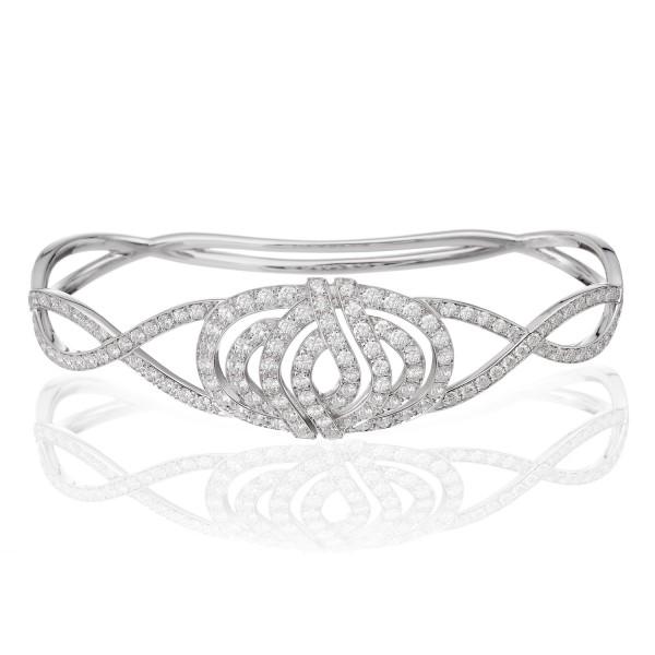 Infinitas Palm Bracelet with Diamonds