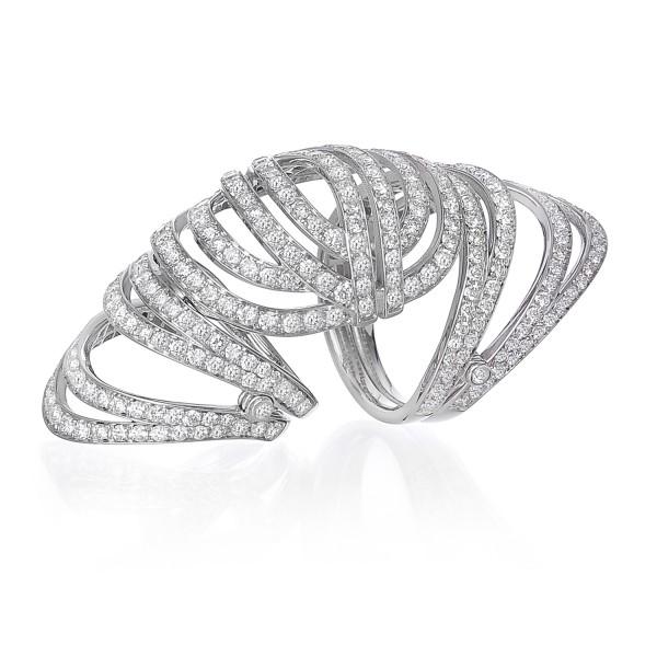 Infinitas Long Ring with Diamonds