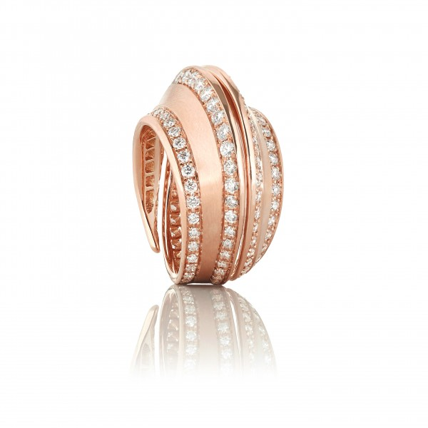 Spira Ring in Rose Gold with Demi Pavé
