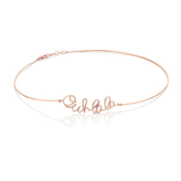 Ouh Lala Choker in Rose Gold