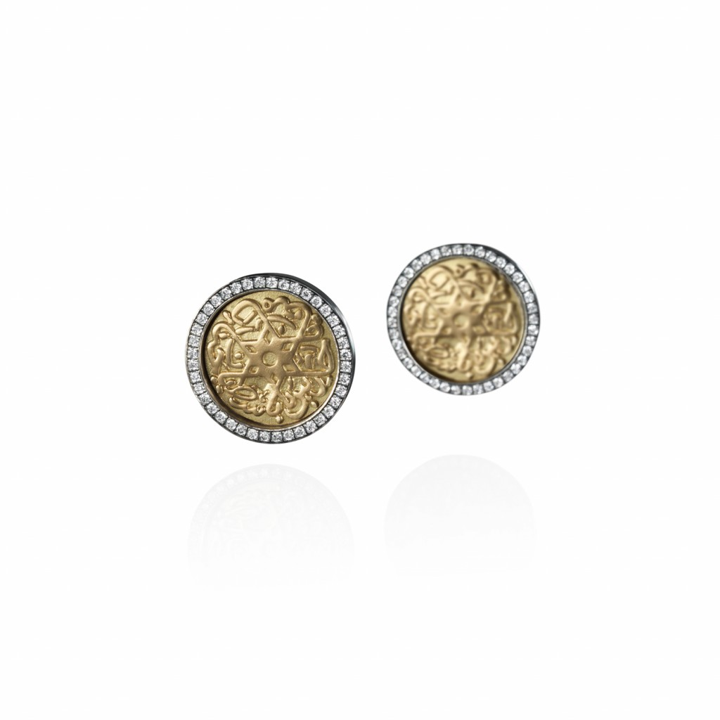 Seal of Solomon Earrings by Azza Fahmy