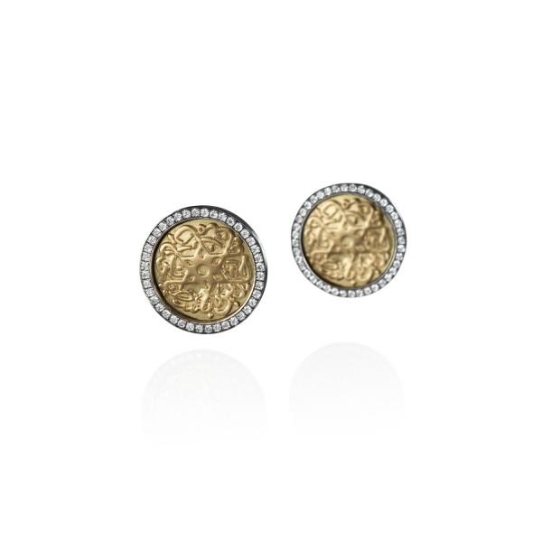 Seal of Solomon Earrings by Azza Fahmy