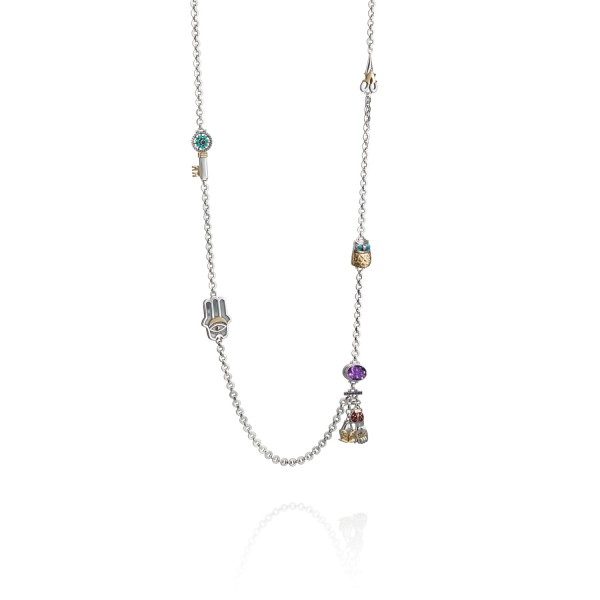 Good Luck Charm Necklace by Azza Fahmy