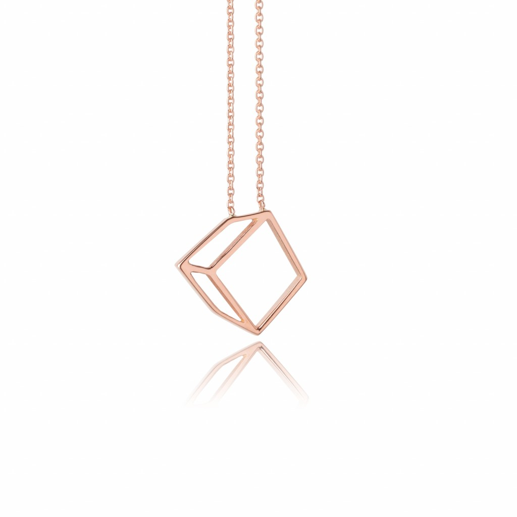 Small Cuboid Necklace by Shimell & Madden
