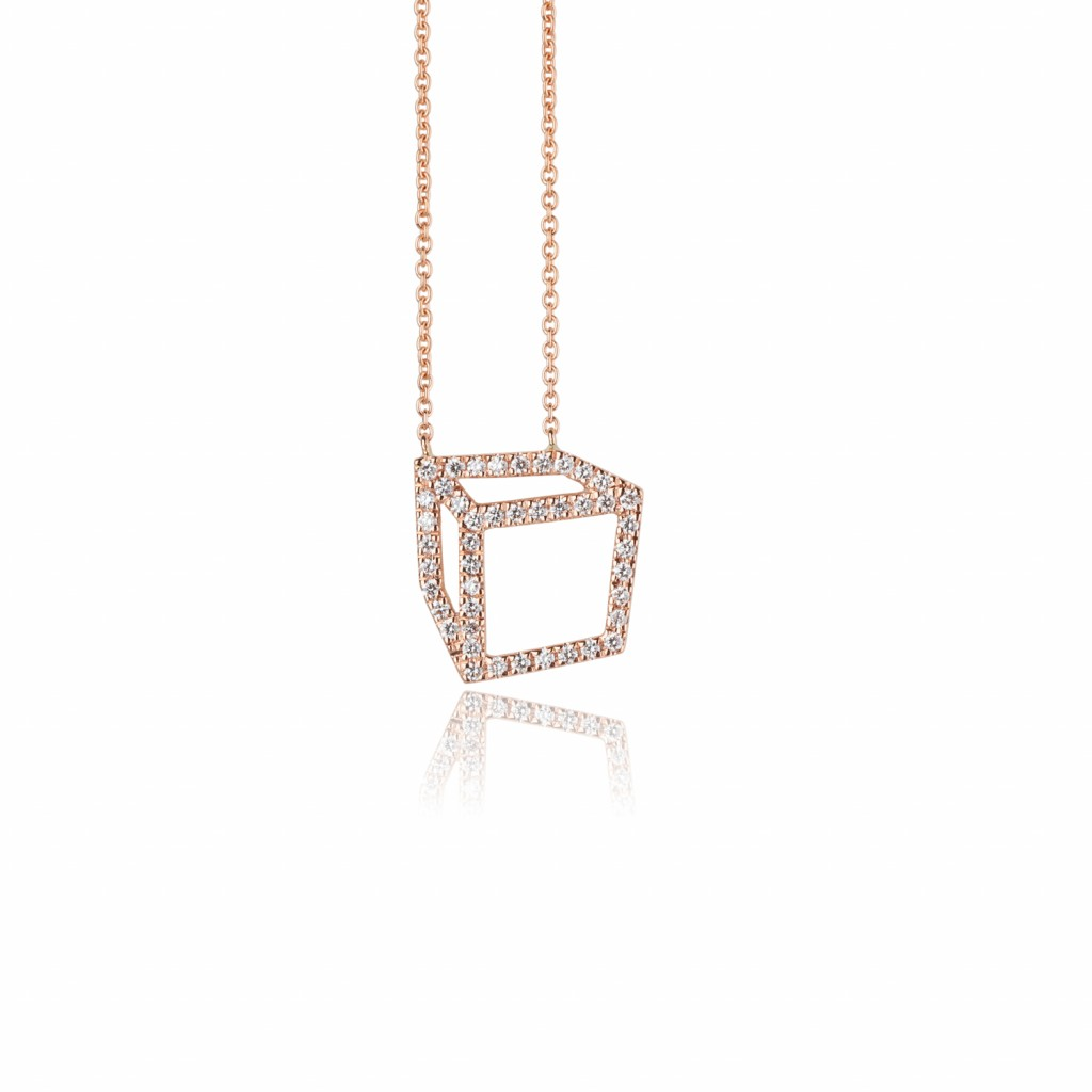Small Set Cuboid Necklace by Shimell & Madden
