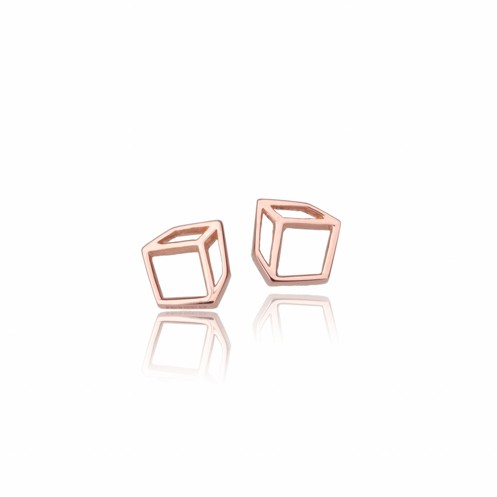 Small Cuboid Studs by Shimell & Madden