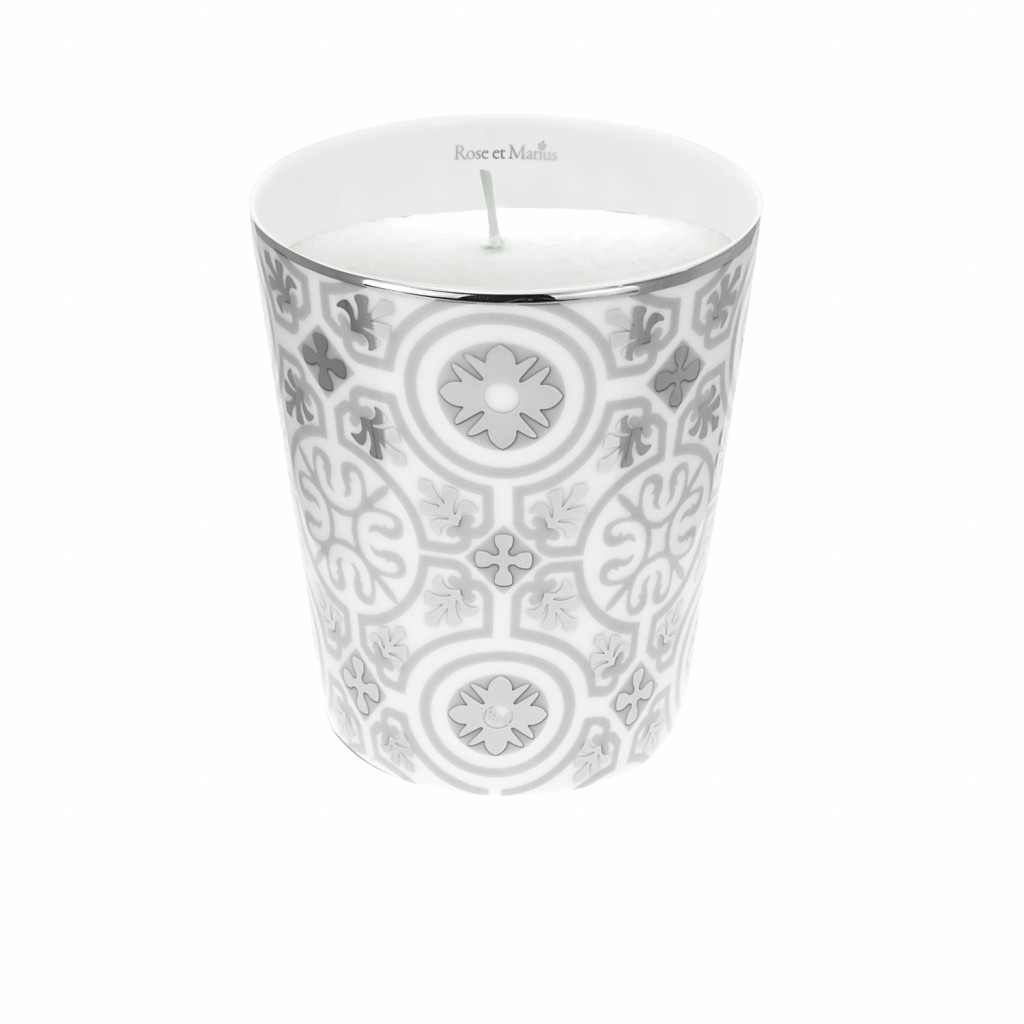 Casteau Grey Scented Candle by Rose et Marius