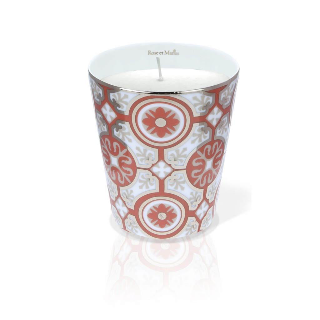 Casteau Red Scented Candle by Rose et Marius