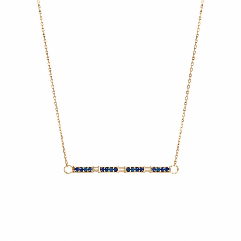 Sapphire Delicate Bar Necklace by Lily Kamper
