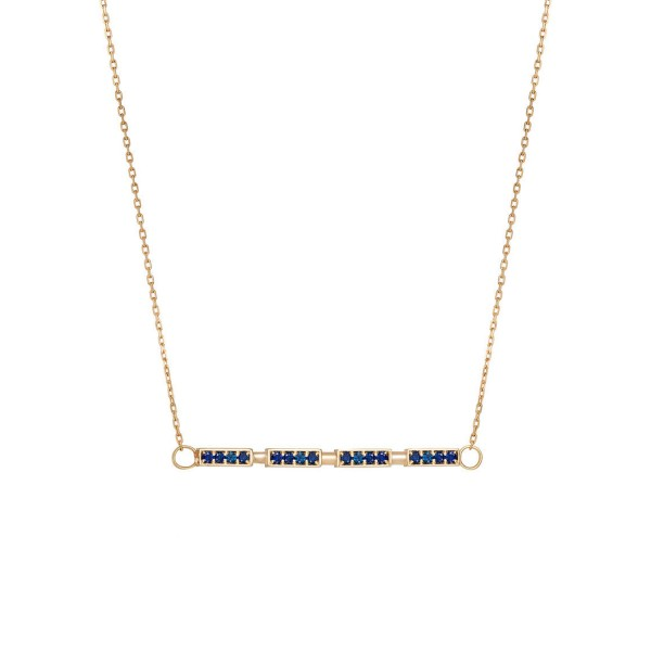 Sapphire Delicate Bar Necklace
