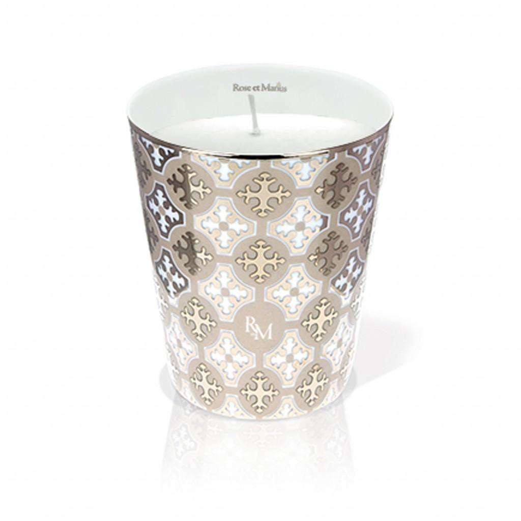 Neou Beige Platinum Scented Candle by Rose et Marius