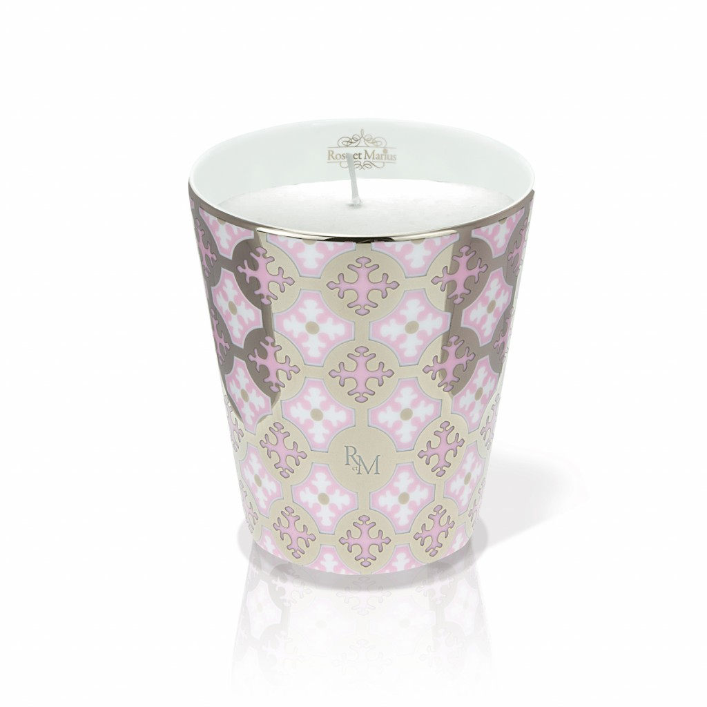 Neou Pink Platinum Scented Candle by Rose et Marius