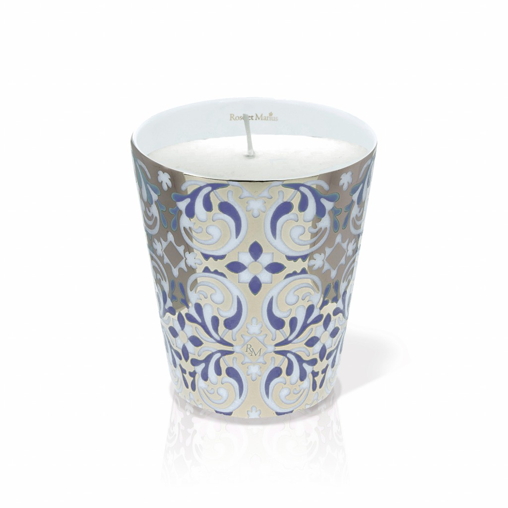 Oustau Blue Scented Candle by Rose et Marius