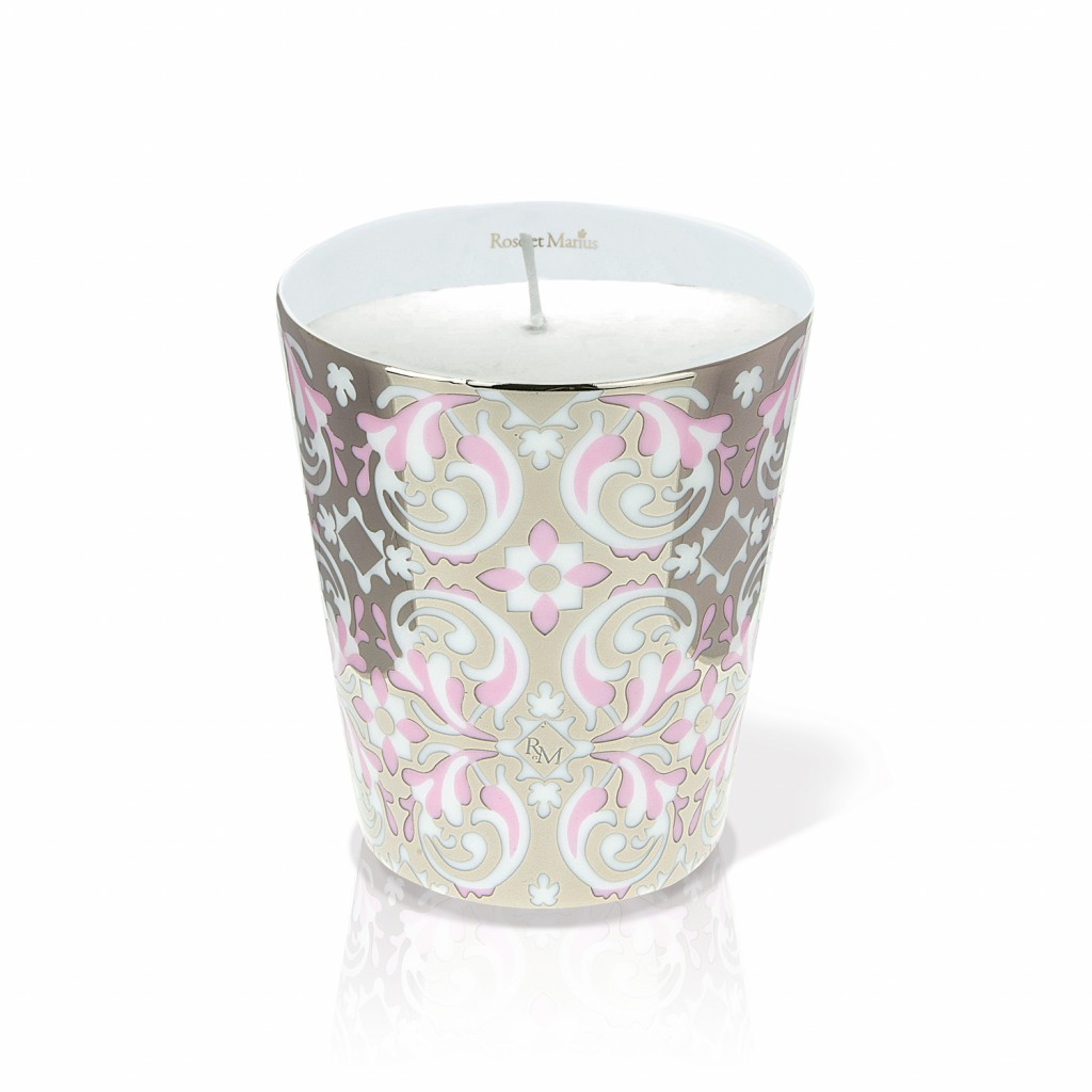 Oustau Pink Scented Candle by Rose et Marius