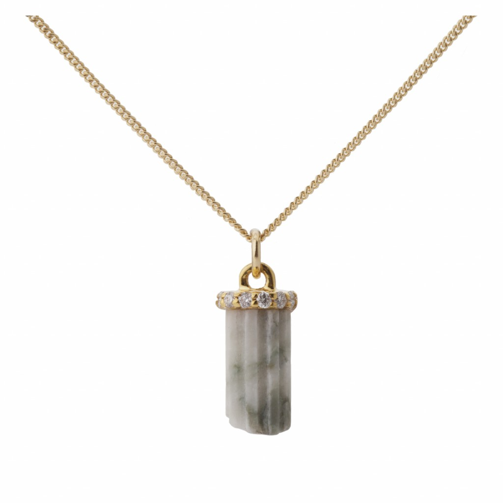 Tiny Marble Pillar Pendant by Completedworks