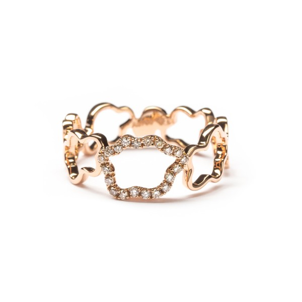 Golden Clouds Ring