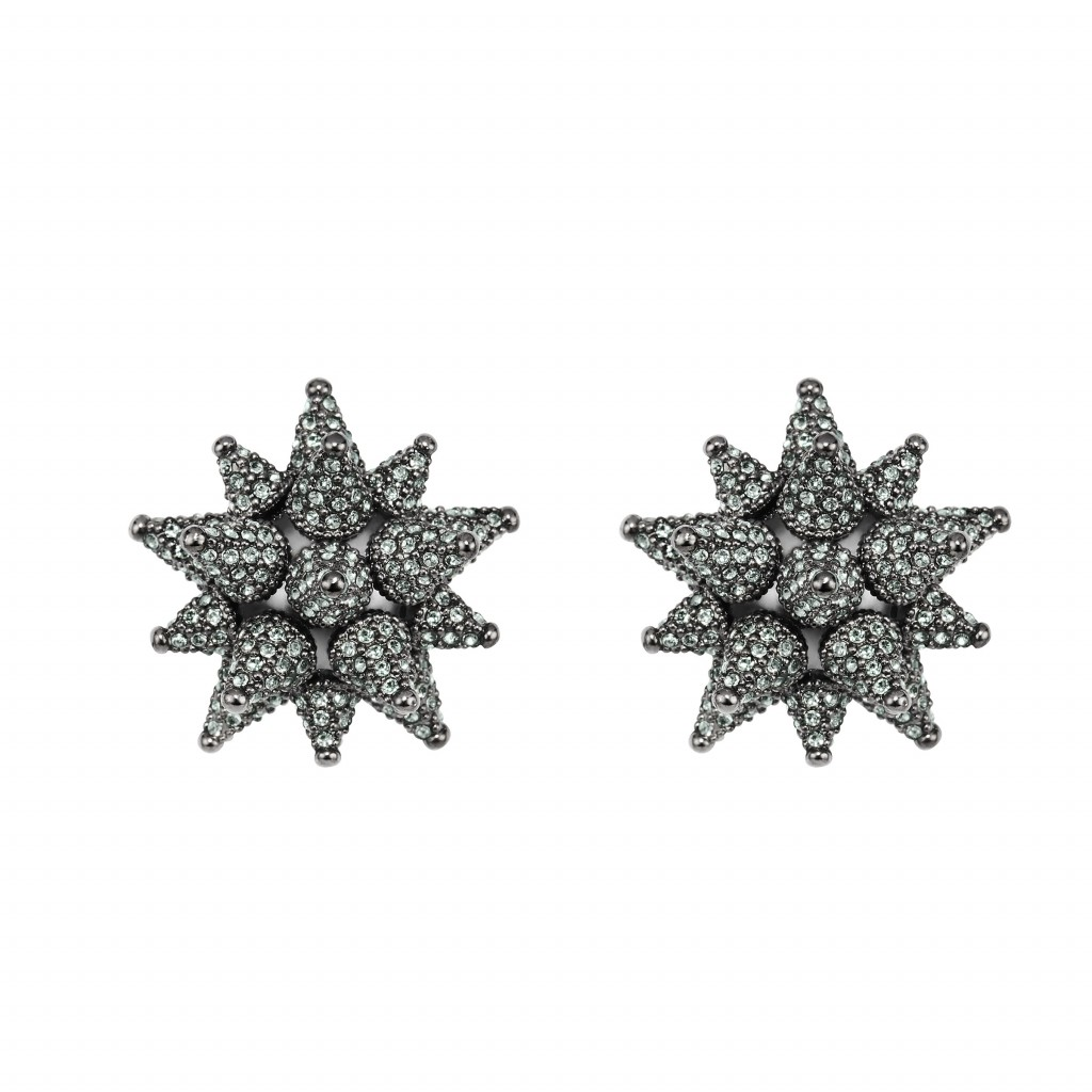 Chrysolite Kalix Clip Earrings by Atelier Swarovski