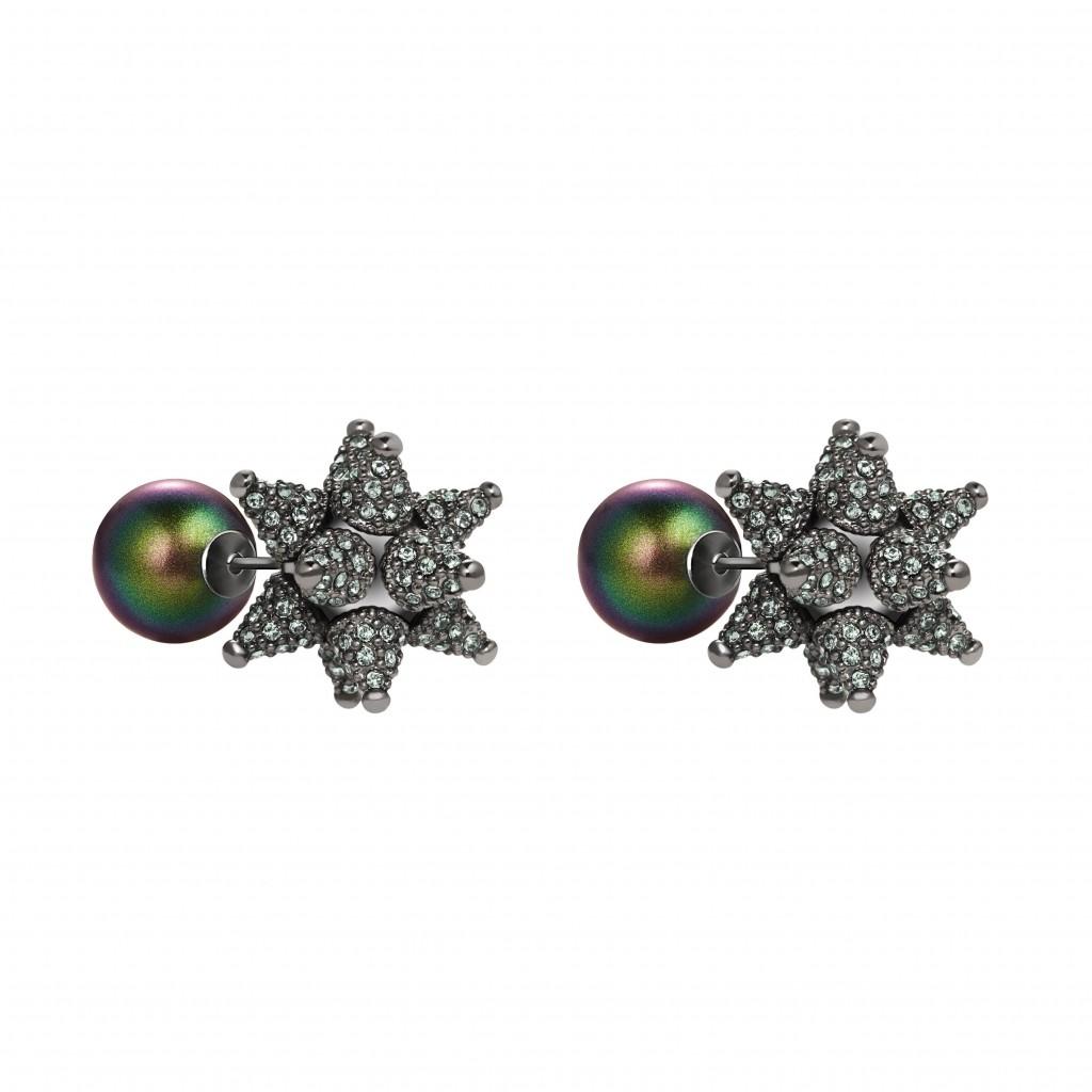 Chrysolite Kalix Stud Earrings by Atelier Swarovski