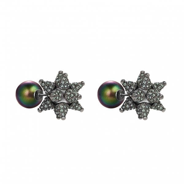 Chrysolite Kalix Stud Earrings by Atelier Swarovski