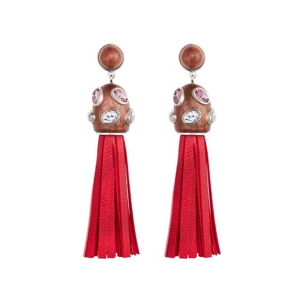 Rose Tassel Earrings