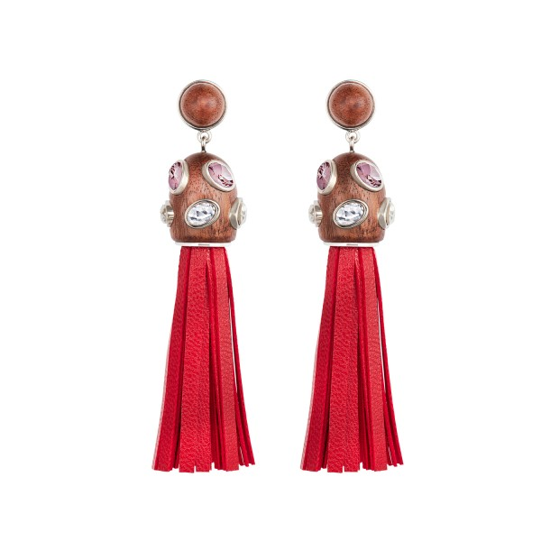 Rose Tassel Earrings by Fiona Kotur