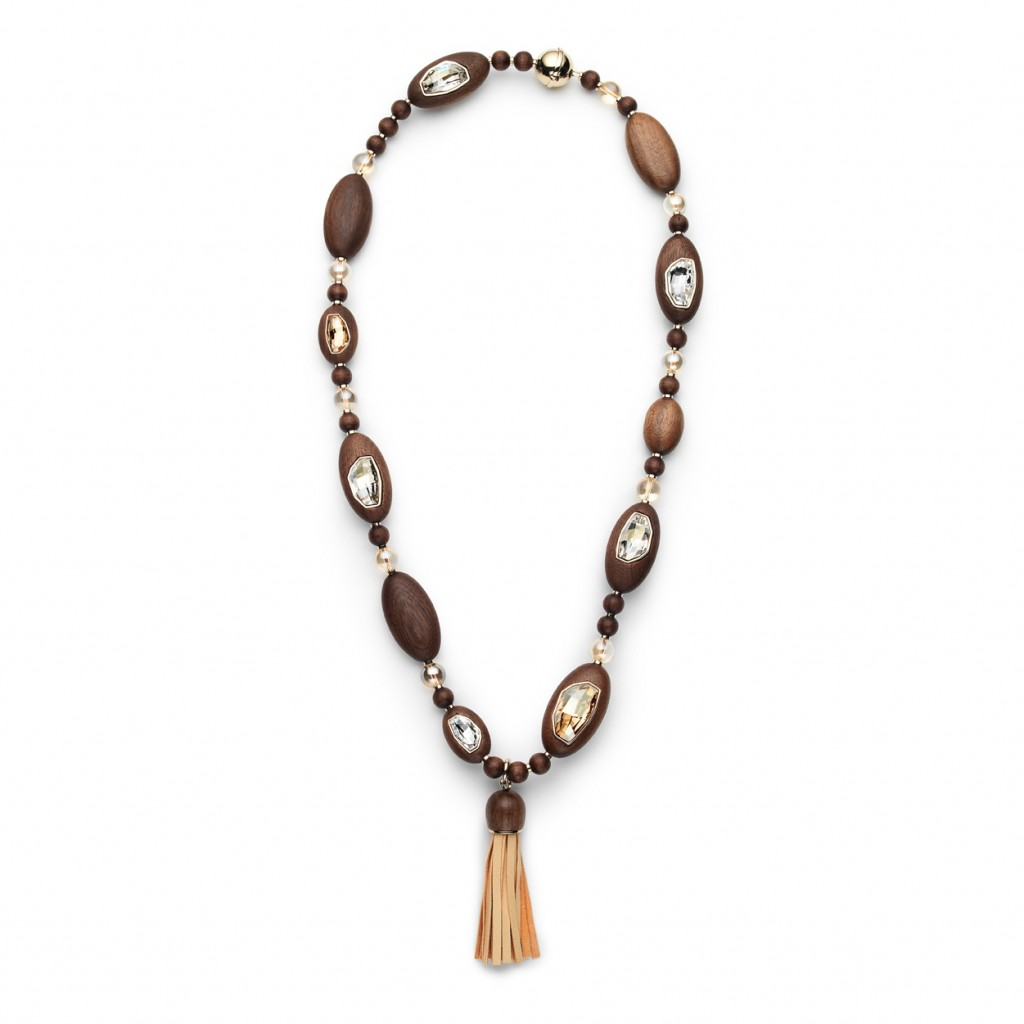 Golden Wood Necklace by Fiona Kotur