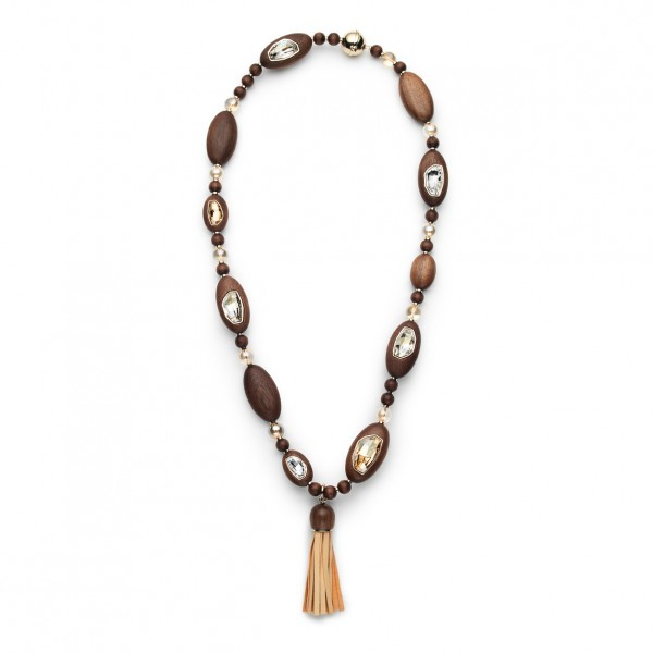 Golden Wood Necklace