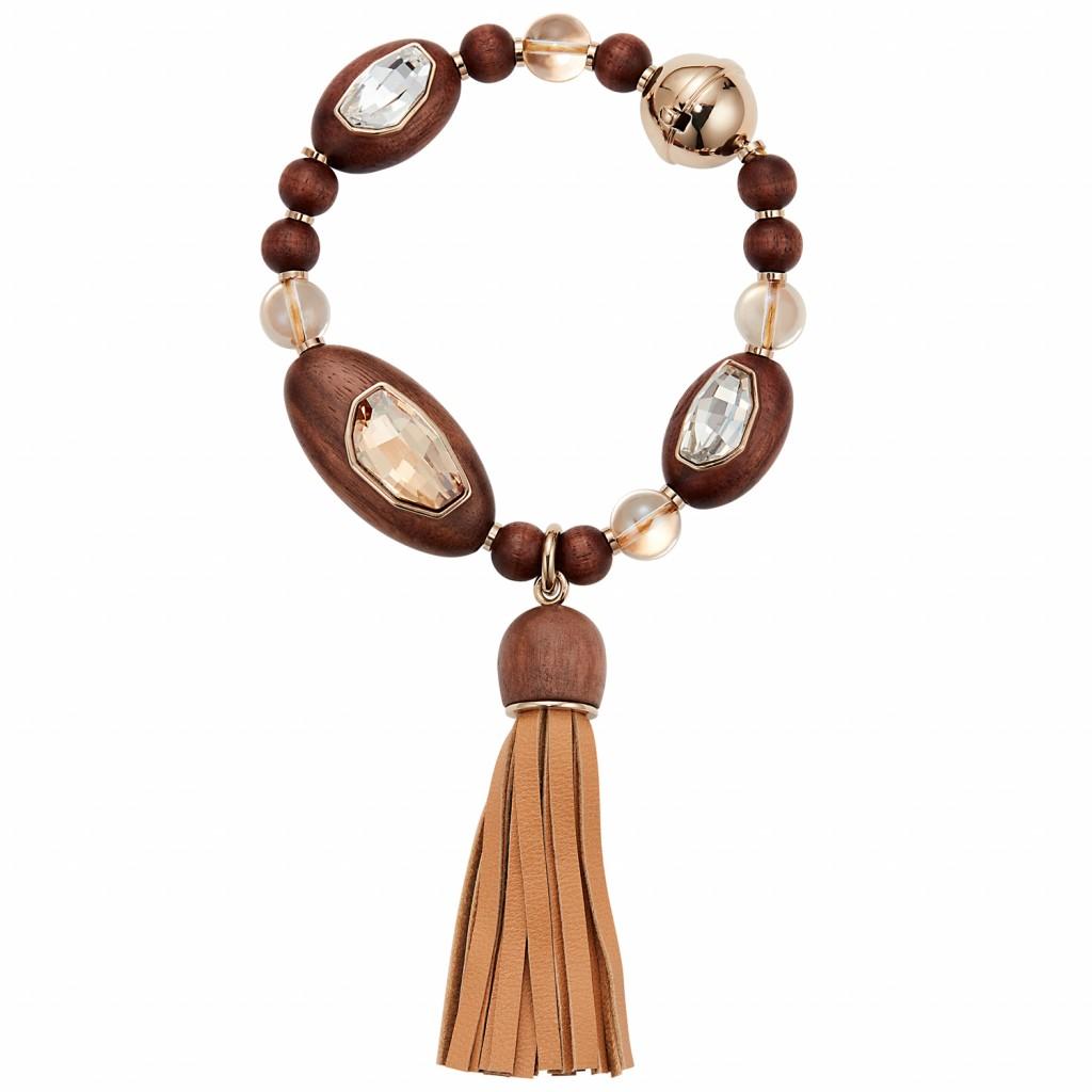 Golden Tassel Bracelet by Fiona Kotur