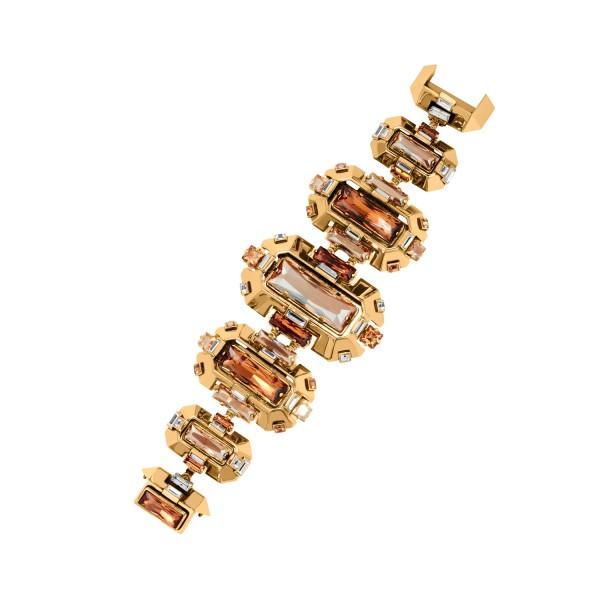 Cristaux Déco Large Bracelet