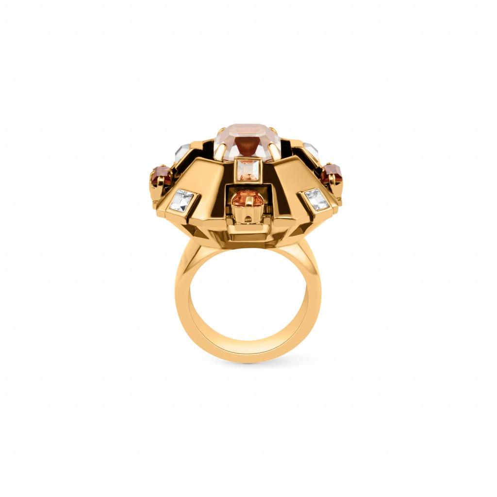 Cristaux Déco Large Ring by Lanvin