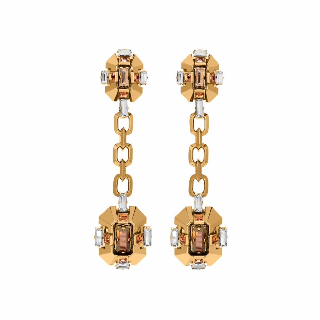 Cristaux Déco Long Earrings