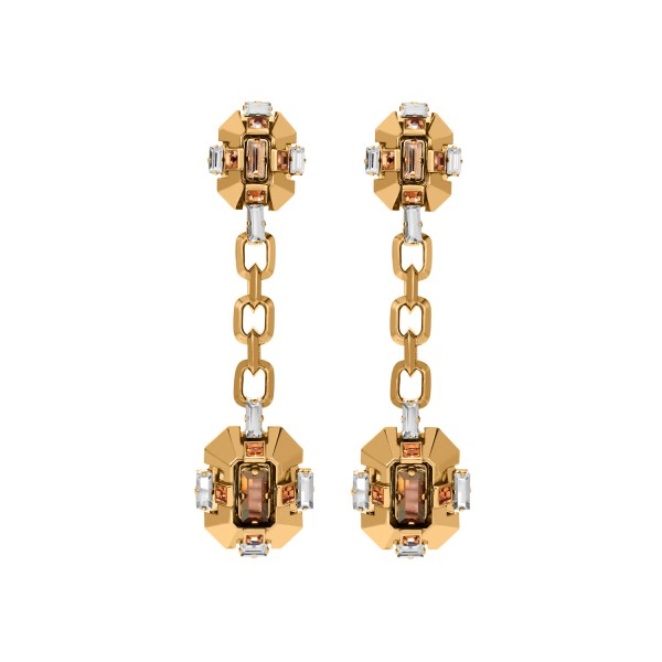 Cristaux Déco Long Earrings by Lanvin