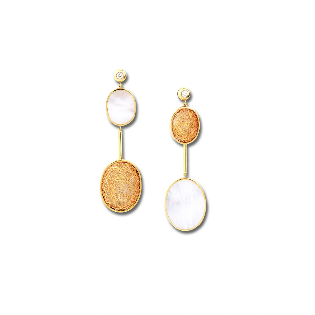 Contrast Faces Earrings