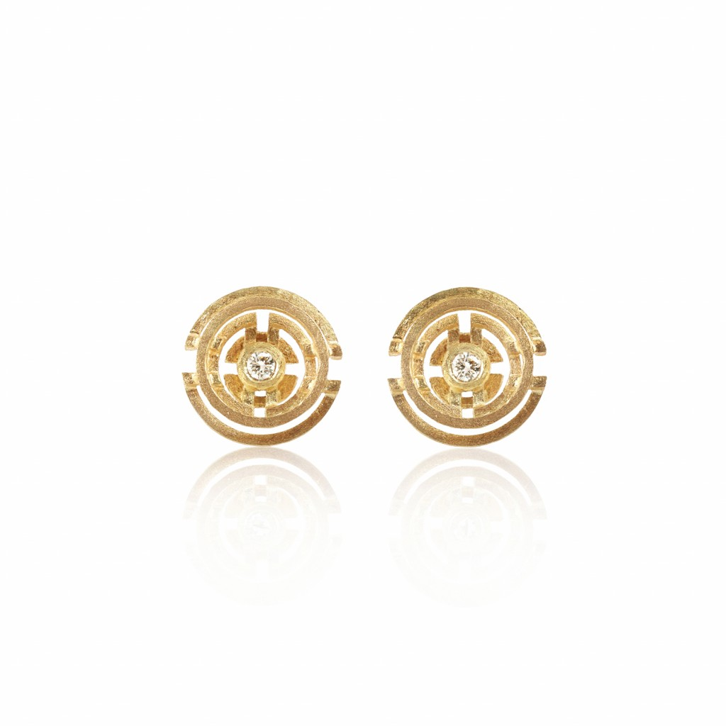 Five Circle Earrings