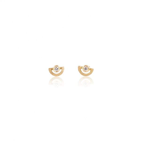 Mini Half-Circle Studs by Shimell & Madden